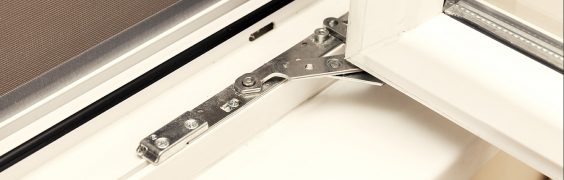 double glazed window with security hinges